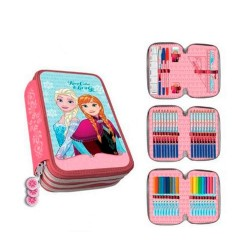 Astuccio Disney, Frozen, 3 zip